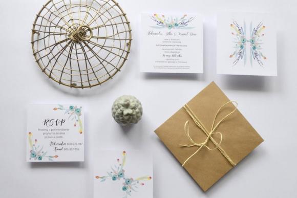 Zaproszenie ślubne FLOWERS