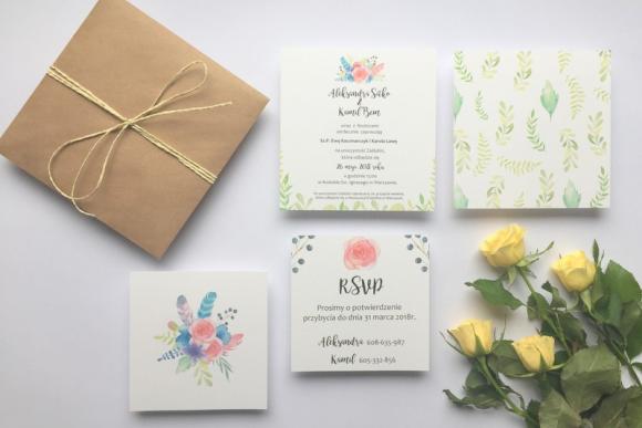 Zaproszenie ślubne SPRING