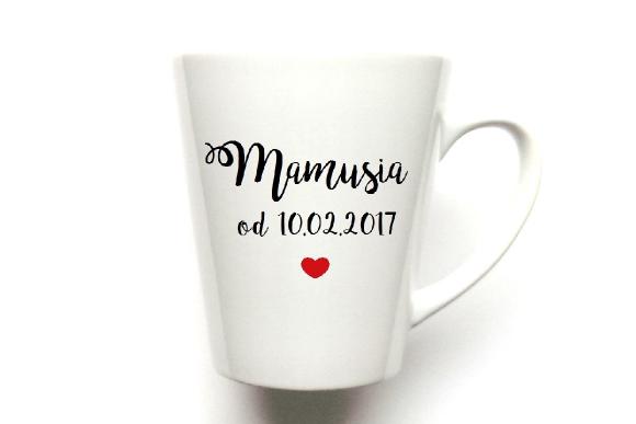 "Kubek Latte Mamusia ""Podaj datę"""