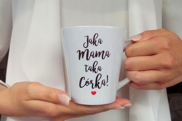 Kubek Latte Jaka Mama Taka Córka