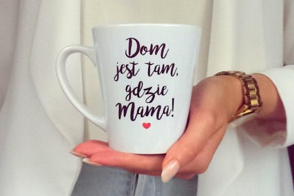 Kubek Latte DOM JEST TAM, GDZIE MAMA