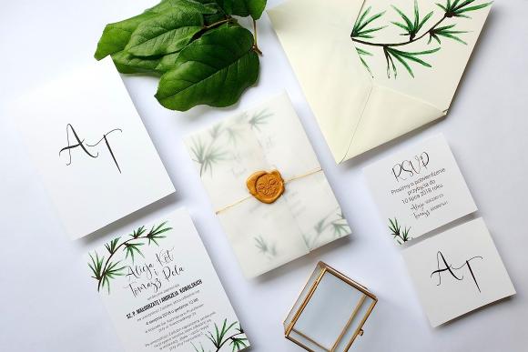 Zaproszenia ślubne Seria Botanic FD1