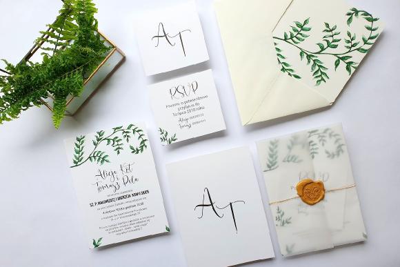 Zaproszenia ślubne Seria Botanic FD2