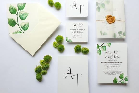 Zaproszenia ślubne Seria Botanic FD3