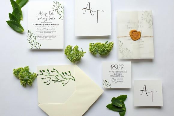 Zaproszenia ślubne Seria Botanic FD4