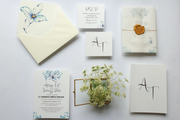 Zaproszenia ślubne Seria Blue FD1