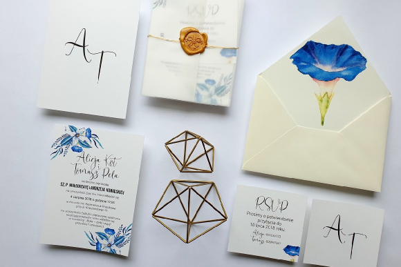 Zaproszenia ślubne Seria Blue FD2