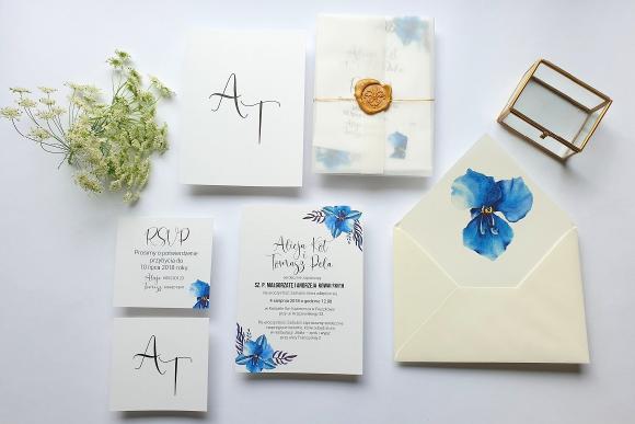 Zaproszenia ślubne Seria Blue FD3