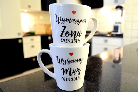 Kubki Ślubne Latte W&W