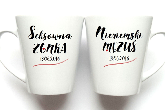 Kubki ŚLUBNE latte S&N